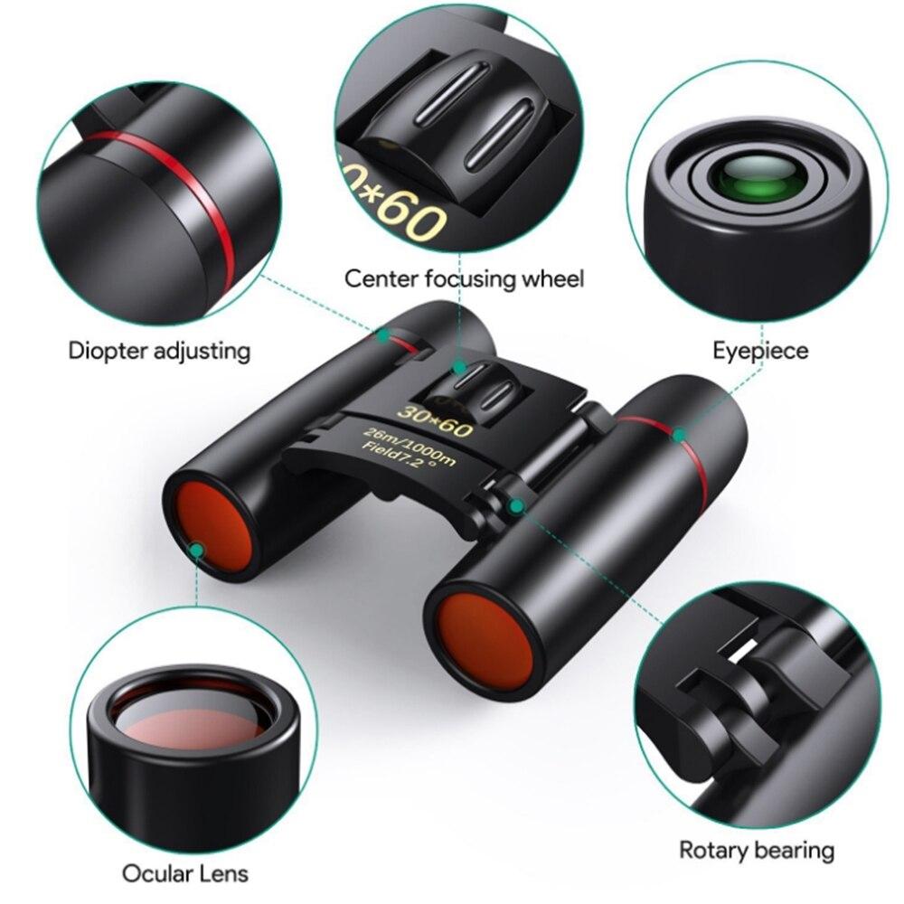 Discount╡Zoom Telescope Binoculars Night-Vision Watching Outdoor Bird Hunting 30x60 with Low-Light