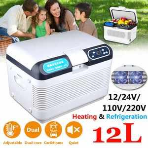 12L 12V 24V Mini Refrigerator Cooler and Warmer Fridge with LED Display Home&Car Household Dual Use Travel Refrigerator