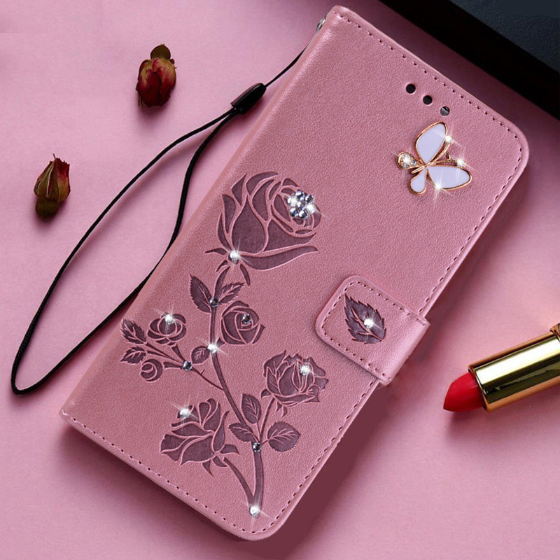 3D Flower Flip Leather Case For Motorola Moto E5 G5 G5S G6 Plus E6 Play E6S G Stylus Power X Style Pure Wallet Cover Phone Case