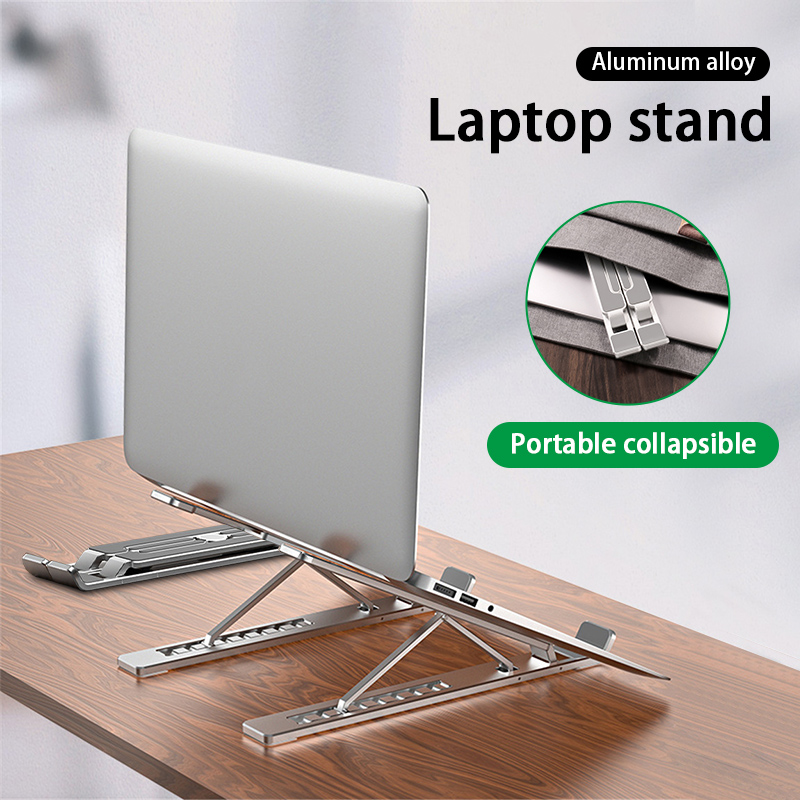 Aluminum Alloy Adjustable Laptop Stand Folding Portable for Notebook MacBook Computer Bracket 11-17 inch Laptop Stand(China)