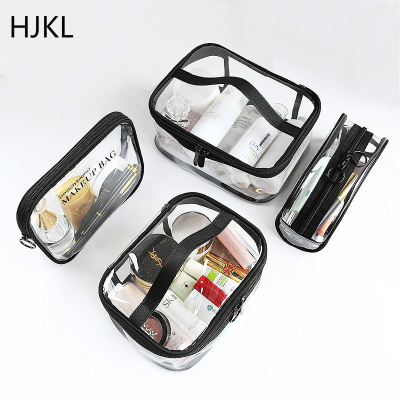 Toiletry Storage Kit Waterproof Transparent PVC Bath Cosmetic Bag Women Make Up Travel Zipper Makeup Beauty Wash Organizer Case