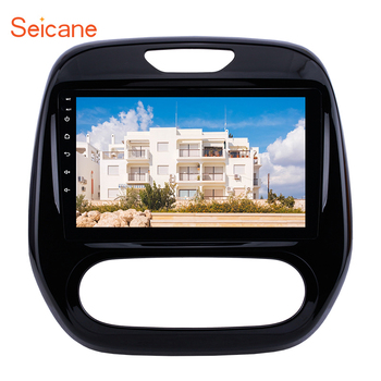 Seicane Android 10.0 9 2din Car Auto Radio For Renault Captur CLIO Samsung QM3 Manual A/C 2011-2016 GPS Navigation with WIFI image