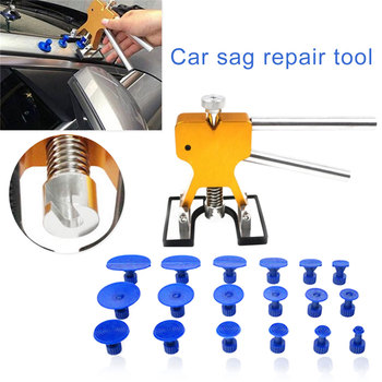 PDR Tools Paintless Dent Repair Tool Dent Repair Kit Car Dent Puller with 18 Puller Tabs Hail Removal Kits for Vehicle Car Auto auto body tools dent puller kit spotter stud welder spot welding gun washer chuck holder car bodywork dent repair automotive