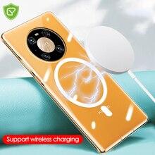 Mgnetic Case Voor Huawei Mate 40 30 Pro Magsafe Oplader Beschermhoes Voor P40 Pro Draadloze Oplader Transparante Bumper Hard terug