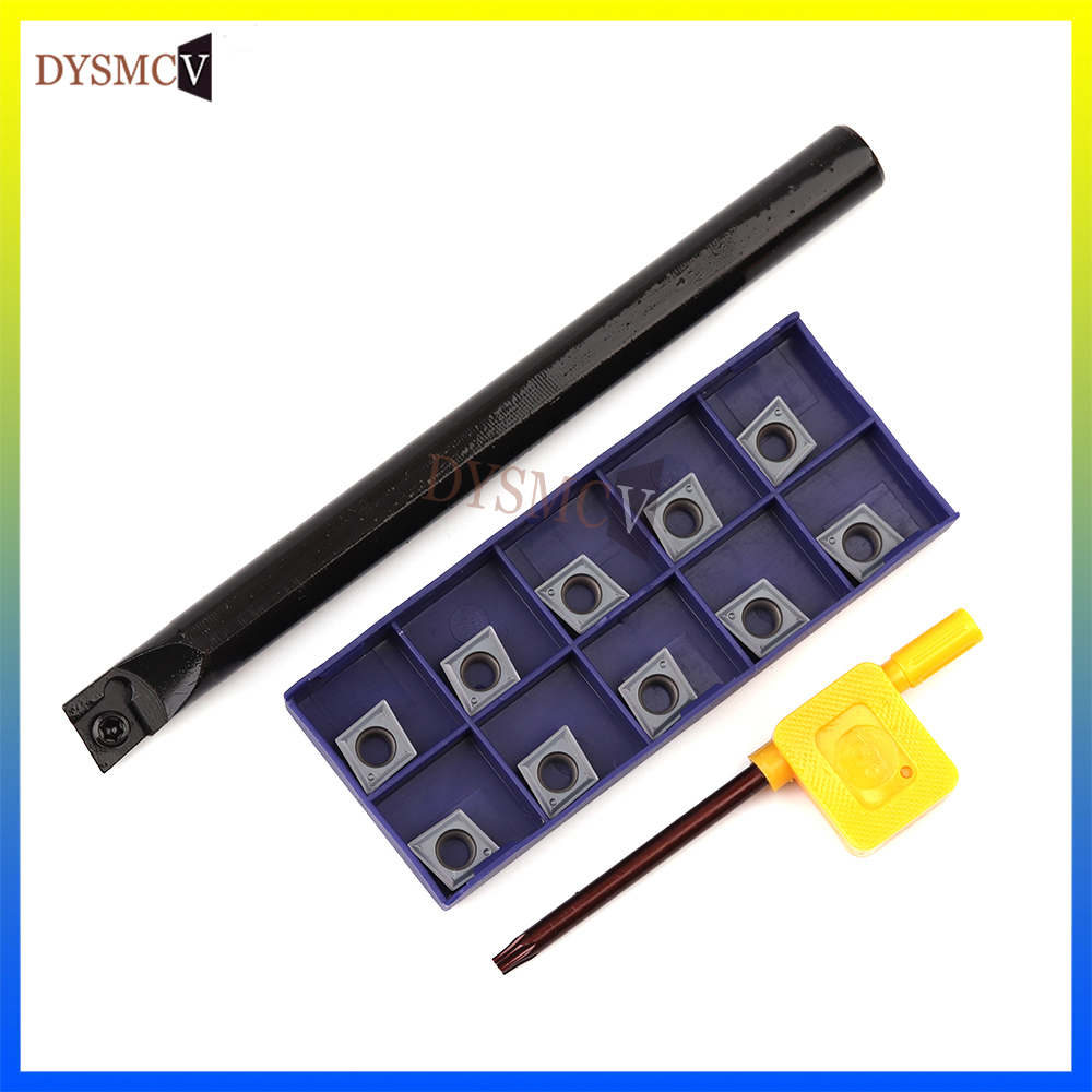 1PC internal turning tool holder S12M S14N S16Q S20R S25S -SCLCR09 +10PCS LAMINA CCMT09T304 carbide insert turning tool cutting