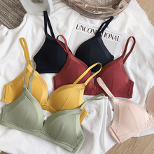 Only a bra,5 colors wire free comfortable bras ,seamless fashion underwear, girls intimate, women sexy Bralette thin pure color