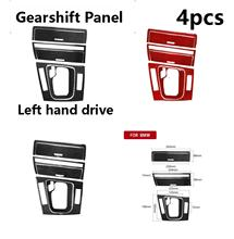 For BMW E46 1998-2005 Left hand drive Interior Carbon Fiber Gearshift Panel panel Cover Sticker Refitting Accessories