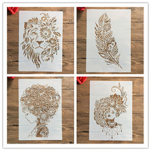 A4 29 * 21cm  DIY Stencils Wall Painting Scrapbook Coloring Embossing Album Decorative Paper Card Template,wall