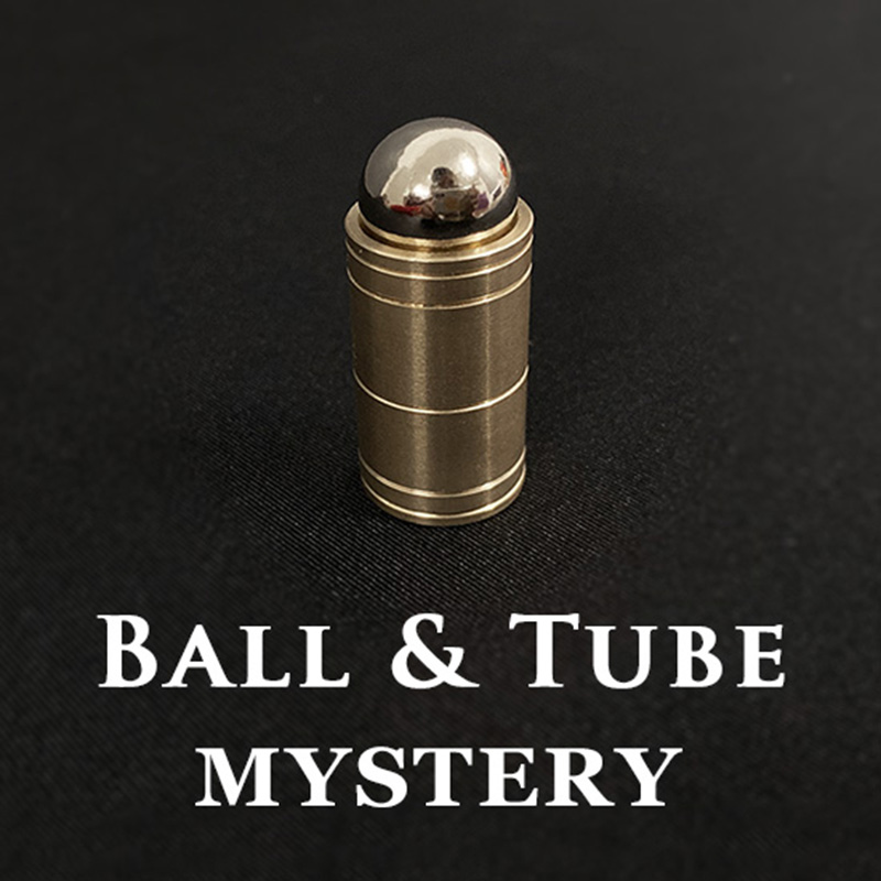 Ball & Tube Mystery (Brass) Magic Tricks Steel Ball Sink Down Into Tube Magia Close Up Illusions Props Gimmick Mentalism Easy
