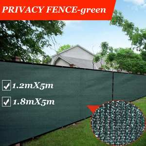 Green Privacy Screen Fence, Heavy Duty Fencing Mesh Shade Net Cover Balcony Privacy Shield