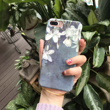 case for iPhone Case for iPhone  X XS 6 7 8 6Plus 7Plus 8Plus hard PC frosted touch pure color flower pattern modern stylish stylish maya pattern carbonized bamboo back case for iphone 5c yellow brown