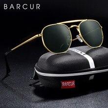 BARCUR Original lunettes De soleil carrées pour hommes polarisées femmes hexagone lunettes De soleil Oculos De Sol Gafas Lunette De soleil femme