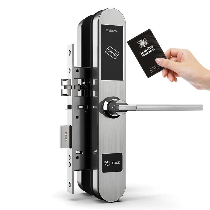 Electronic RFID Hotel Door Lock System Swipe Card European Style Electronic Card Hotel Door Lock