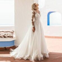 Verngo A-line Wedding Dress Lace Appliques Bride Dress White/Ivory Tulle Wedding Gowns Boho Wedding Dress Vestido Novia цена и фото