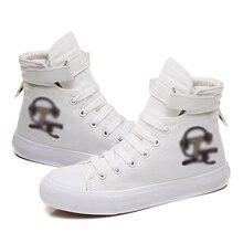 Tik Printed High Canvas Men Women Tok Vulcanized Shoes Douyin symbol Sneakers Shoes Boys Girls Popular Female Male