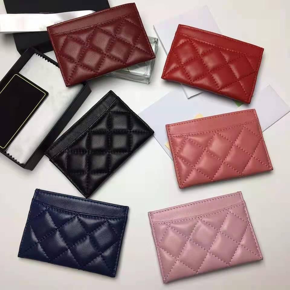 Роскошный высококачественный держатель для карт из натуральной кожи с логотипом ID, кошелек для кредитных карт, кошелек для монет AAA