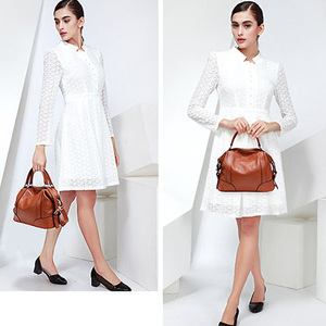 Image 5 - PASTE 2 Sizes Fashion Tote Bags for Women New Classic Leisure Handbags Genuine Cow Leather Female Shoulder Bags bolsa feminina