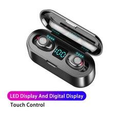 F9 TWS беспроводные наушники Hifi Bluetooth наушники сенсорные спортивные наушники Поддержка siri с микрофоном зарядный чехол для redmi air dots