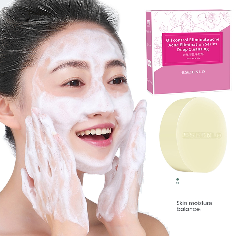 Sea Salt Soap Cleaner Removal Pimple Pores Acne Treatment Goat Milk Moisturizing Face Care Wash Basis For Soap