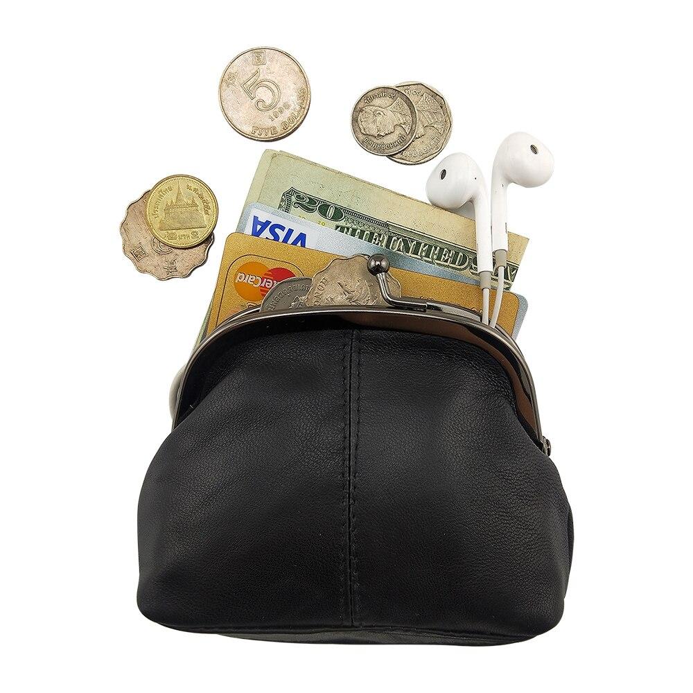 BELLO TUTTI Leather Coin Purse Women Small Wallets Original Genuine Sheepskin Change Purse Card Holder Coin Wallet Purse