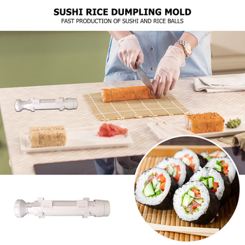 Portable Japanese Cuisine Sushi Maker Roller DIY Rice Ball Sushi Bazooka Mold for Household Kitchen Helping Decor image