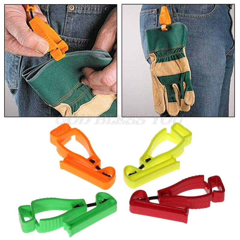 Plastic Glove Clip With Protective Holder Safety Work Gloves Utility Guard Clip
