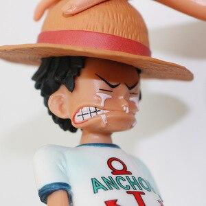 Image 5 - 15cm אנימה חתיכה אחת ארבעה קיסרים נקס קש כובע לופי PVC פעולה איור הולך שמח בובת אסיפה דגם צעצוע צלמית