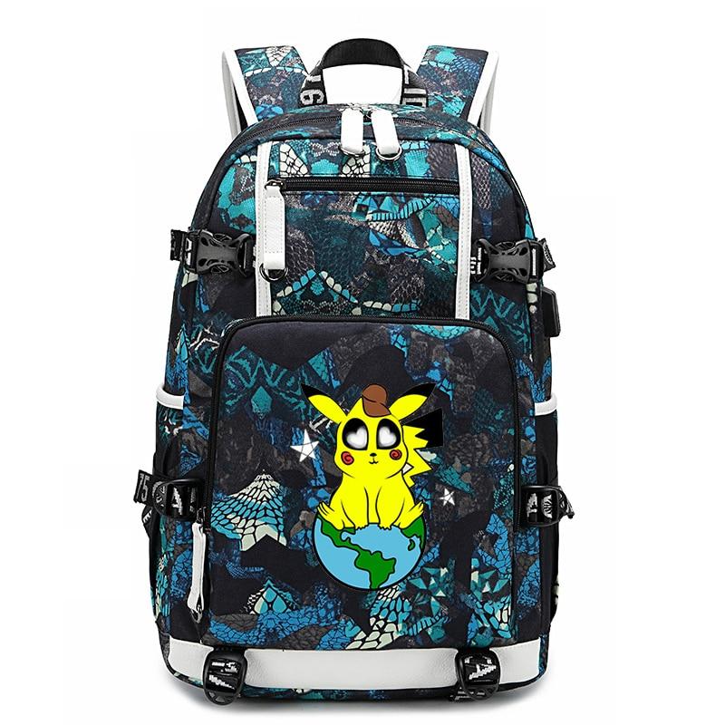 Sac à dos école Pokemon sacs Pikachu sac à dos étanche garçons fille sac pour ordinateur portable extérieur grande capacité sac à dos de voyage adolescent