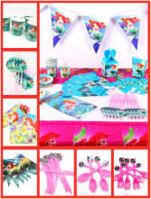 82pc/set Little Mermaid Party Decorations Supplies Kids Tableware Tablecloth Cups Plates Baby Mermaid Birthday Favors Gifts Gril(China)