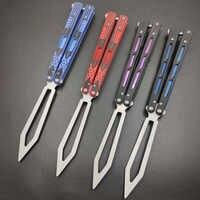Dropship Pieghevole coltello a farfalla rosso blu Cuscinetto A Sfere G10 maniglia Formazione Pratica farfalla in sacchetto coltello Trainer dull lama