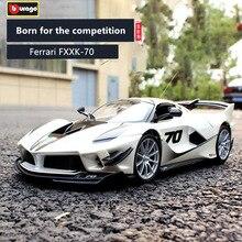Bburago 1:18 Ferrari FXXK 70th  car alloy model simulation decoration collection gift toy Die casting boy