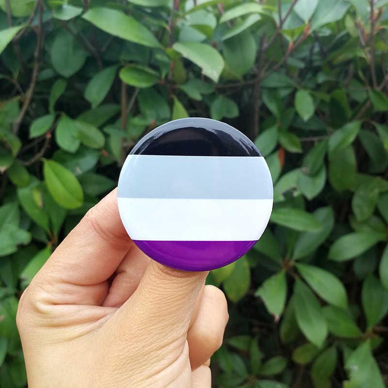 Nengdou T29 LGBT Pride Lá Cờ Cầu Vồng Huy Hiệu Tròn Biểu Tượng Đồng Tính Đồng Tính Nữ Lưỡng Tính Chuyển Giới Pansexual Vô Tính Biểu Tượng Pin Rozet Thổ Cẩm