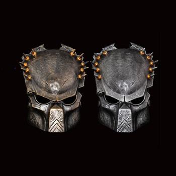 Film Alien Predator Cosplay maska kostium kask rekwizyty anteny Halloween Party Horror całą twarz maska na twarz zabawki tanie i dobre opinie Model Żywica Żołnierz gotowy produkt Żołnierz zestaw Żołnierz części i podzespoły elektroniczne Wyroby gotowe