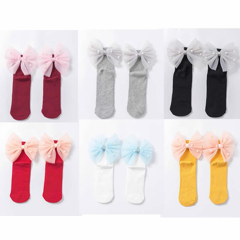 1-8 Years Old Baby Socks New Cotton Socks Princess Socks Organza Butterfly Children Socks Of The Girls