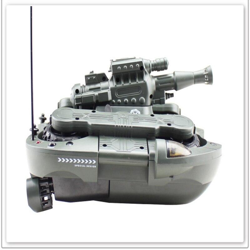 Interruptor de modo tierra y agua del tanque de control remoto con el regalo del niño del juguete del tanque anfibio del disparo al agua - 2