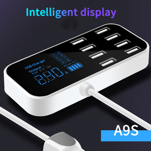 Image 2 - Multi 8 Port USB Quick Car Charger LCD Display Adapter For Iphone Xiaomi Samsung For Ipad Smart Device Universal Car Fast Charge