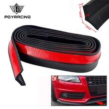 2,5 м автомобильный бампер, наклейки в виде губ, передний бампер автомобиля, губы, резиновый бампер для автомобиля, защитные накладки, наружные накладки, бампер, полоска для губ, ширина 65 мм