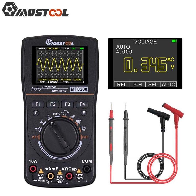 Модернизированный цифровой мультиметр MT8208 2 в 1 HD графический осциллограф 2,5 Msps частота дискретизации электронный тест