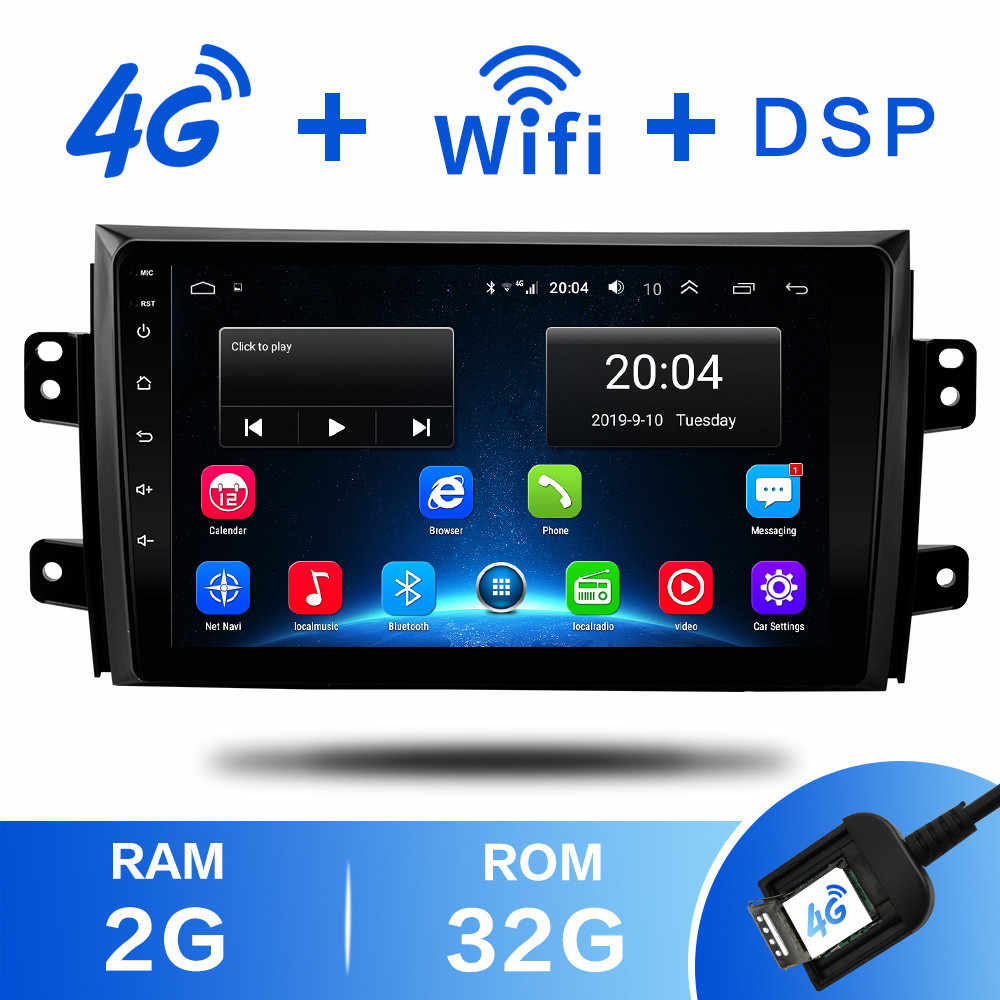 2G + 32 2 din Android 8,1 4G Red auto Radio Multimedia reproductor de vídeo para Suzuki SX4 2006, 2007, 2008, 2009, 2010, 2011, 2012 WiFi BT DSP