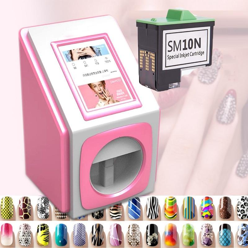 Smart Nail Machine SM10N Cartridge 3D Nail Painting Machine Cartridge HD Color Cartridge For V11 And W1 Model Nail Printer