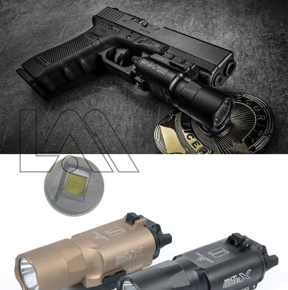pistola arma luz 500 lumens arma luz