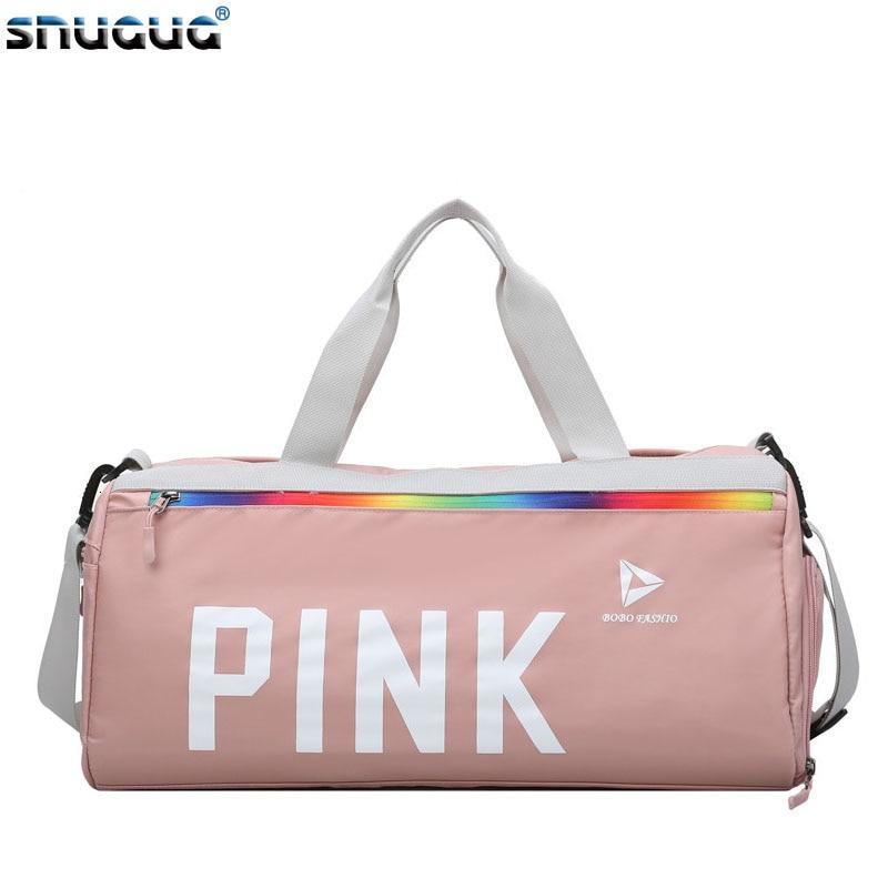 SNUGUG Nylon Gym Bag Women Fitness 2019 Sport Bag With Shoes Compartment Outdoor Shoulder Bag Travel Handbags Bag For Sportswear