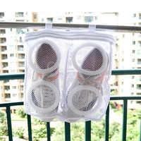 Machine à laver chaussure blanchisserie Protection sacs maille Fine lavage paresseux chaussure lavage sac-accrocher chaussures soleil chaussure sac vêtements sac lavage chaussure
