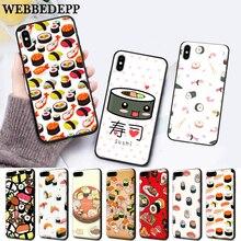WEBBEDEPP Japanese cuisine Sushi food Silicone Case for Huawei P8 Lite 2015 2017 P9 2016 Mimi P10 P20 Pro P Smart 2019 P30 цена 2017