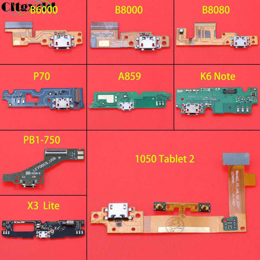 <font><b>USB</b></font> Charging Port Flex Cable <font><b>Micro</b></font> Jack Dock <font><b>Connector</b></font> <font><b>PCB</b></font> Board For Lenovo Tablet Pad Yoga 10 B6000 B8000 B8080 K6 NOTE P70 image