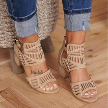 Women Fashion Sandals Women Vintage Hollow Out Peep Toe Square Heel Wedges Sandals High Heels Shoes Zapatos Mujer women platform sandals one word women peep toe high wedges heel ankle buckles round fine high heels field female sandals shoes