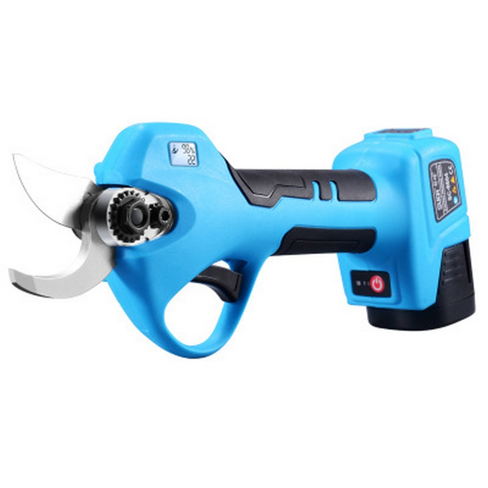 25mm 28mm 30mm 32mm 35mm Cordless Electric Pruning Shears + 2 Battery 1 Charger LCD Digital Display Garden Pruning Shears Set
