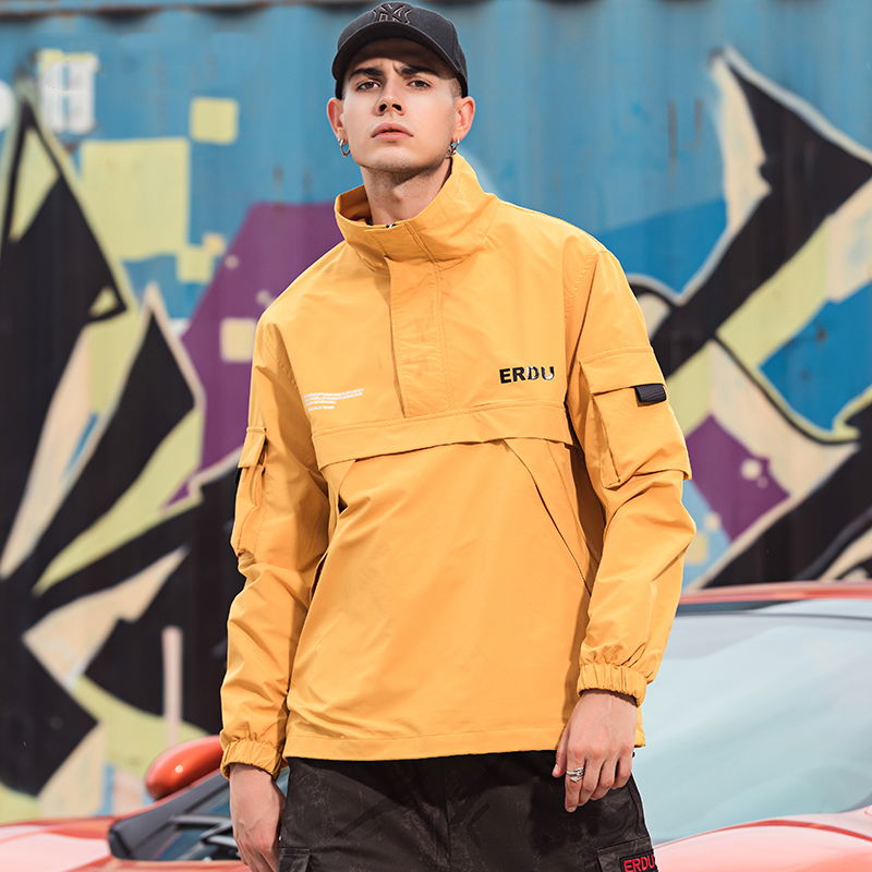 Image 4 - Mens Anorak Jackets 2019 Men Hip Hop Outwear Autumn Windbreaker 