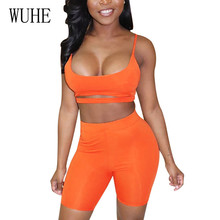 WUHE Sling Umbilical Backless Two Pieces Sets Playsuits Elegant Sleeveless Hollow Out Bodycon Bandage Jumpsuits Femme Overalls