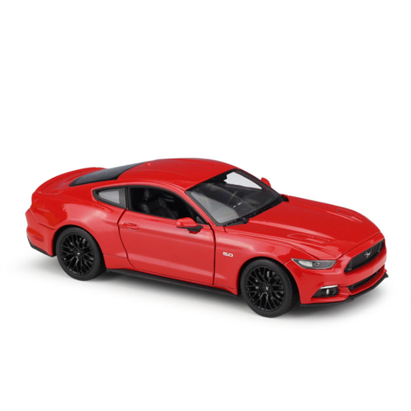 4 Colors 1/24 Scale luxury run Car Metal Alloy Classic Diecast Model 2015 <font><b>Ford</b></font> <font><b>Mustang</b></font> GT Toy Collection for Kids Doll Toy image
